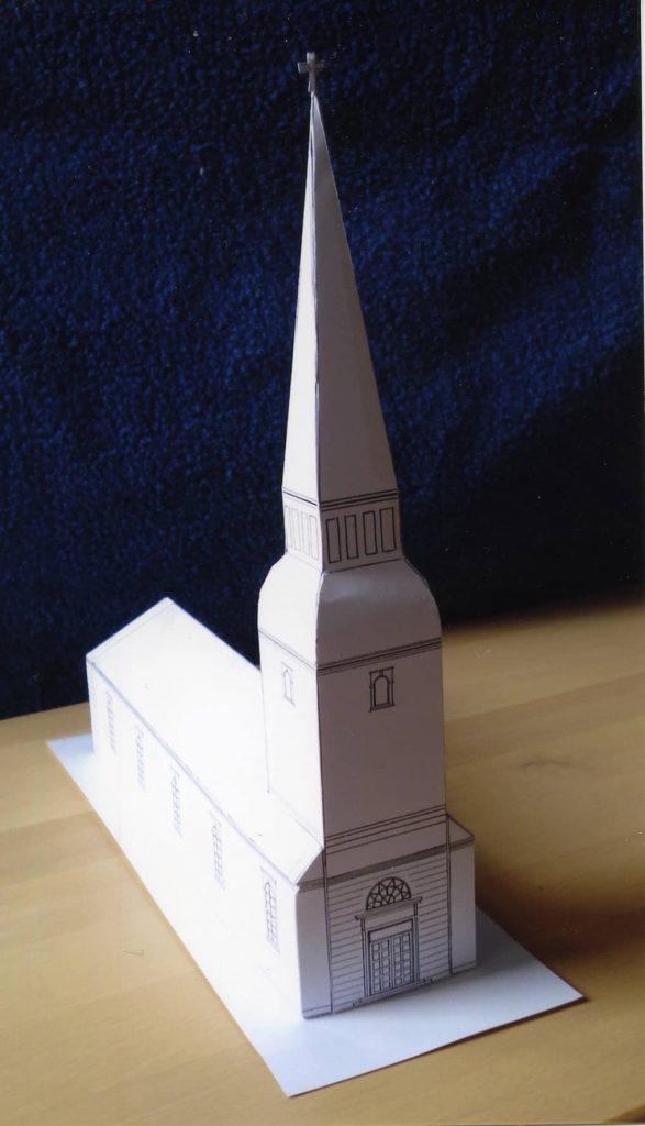 Sankt Pauls Kirke med spir, som den oprindeligt var tegnet.
