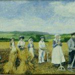 Folk på høstarbejde