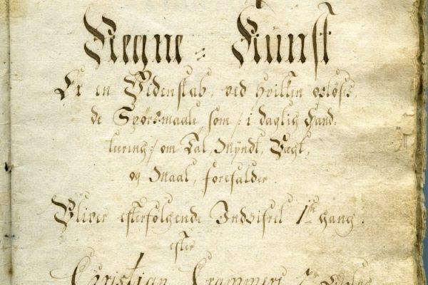 Dokument med gotisk skrift